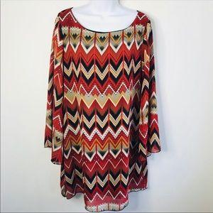 Yahada Bell Sleeve Dress Size Large